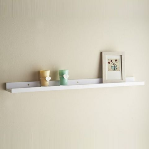 Slim White Photo & Picture Frame Holding Shelf 80cm